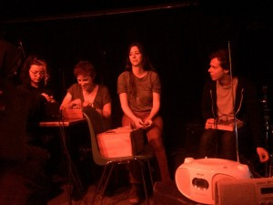 Konsert efter workshop på Instants Chavirés, Montreuil. Foto: Andreas Engström